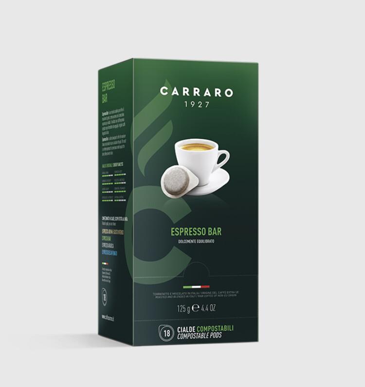 Carraro espresso bar ESE хартиен pod 18 пар
