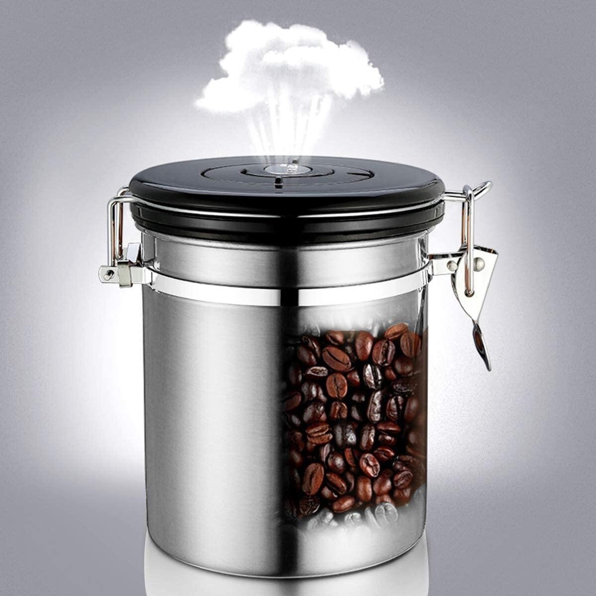 Канистер за зачувување  на свежината на кафето со CO2 вентил за 500грама