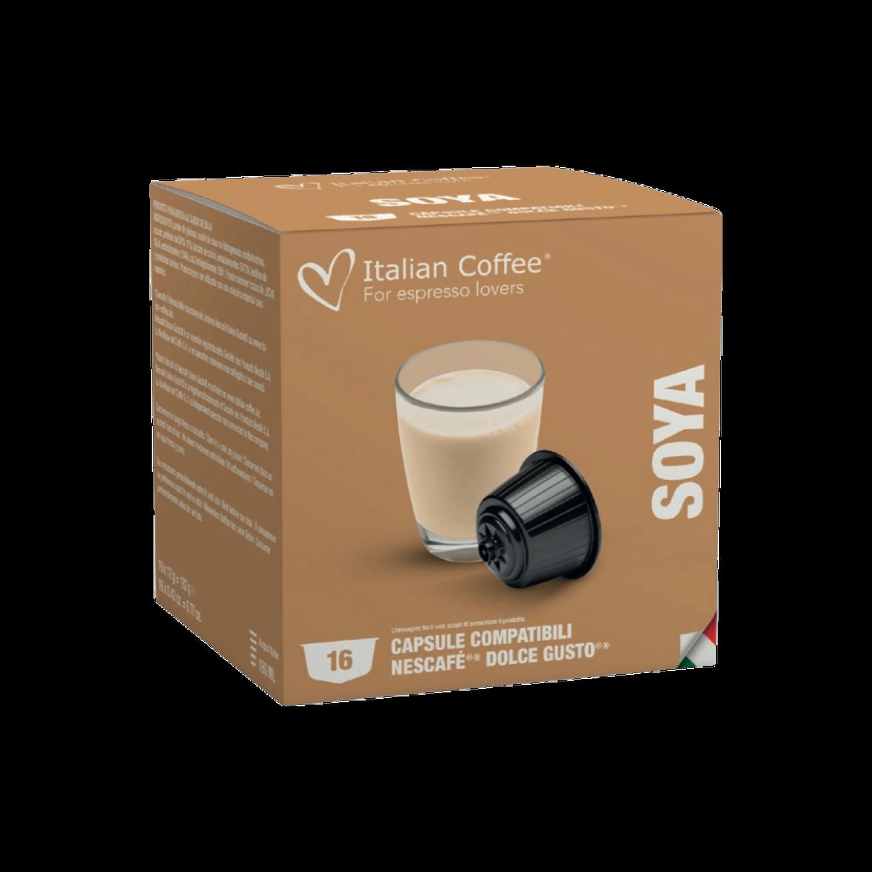 Italian Coffee™️Dolce Gusto SOYA Млеко за капучино х16 пар.