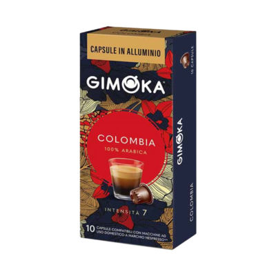 Gimoka Nespresso Alu Prime collection COLOMBIA x10