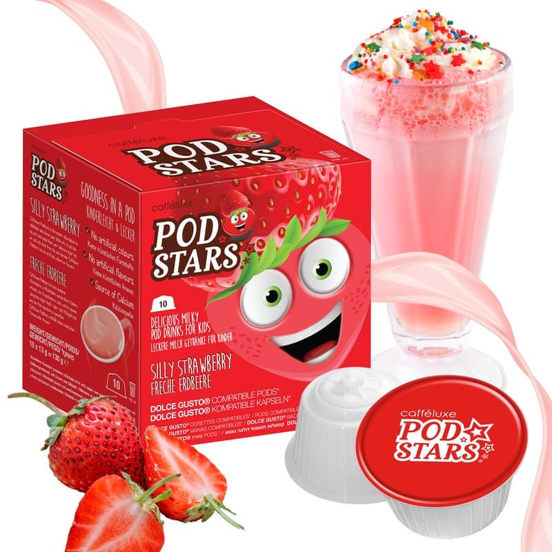 Podstar by Mars for Dolce Gusto Silly Strawberry Milk Shake x10 капсули