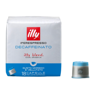 Illy Decaffeinatto Iperespresso x18 капсули