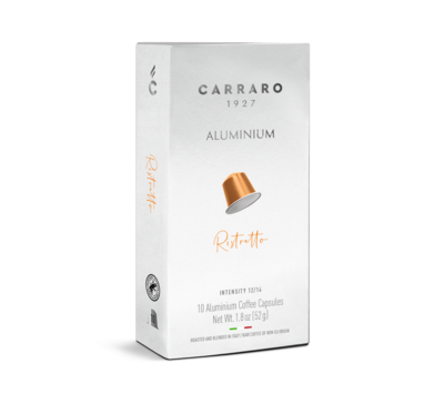 Carraro Nespresso RISTRETTO – 10 капсули ALUMINIUM