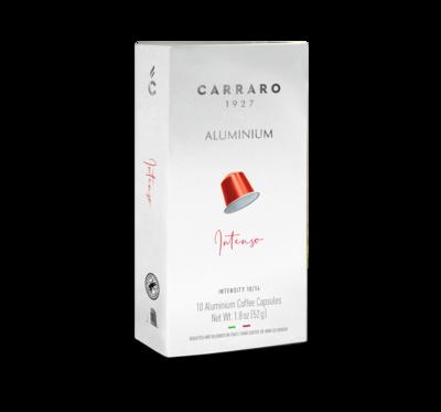 Carraro Nespresso INTENSO – 10 капсули ALUMINIUM