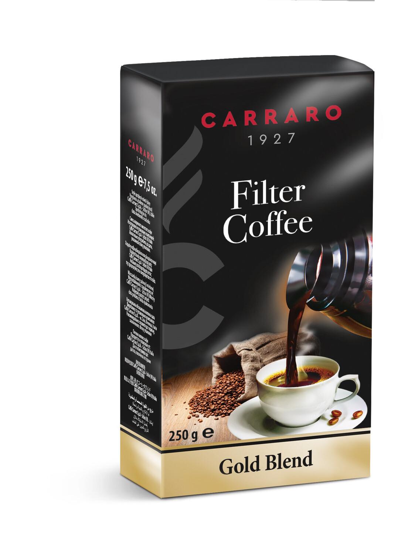 Gold Blend Carraro 250g Филтер кафе
