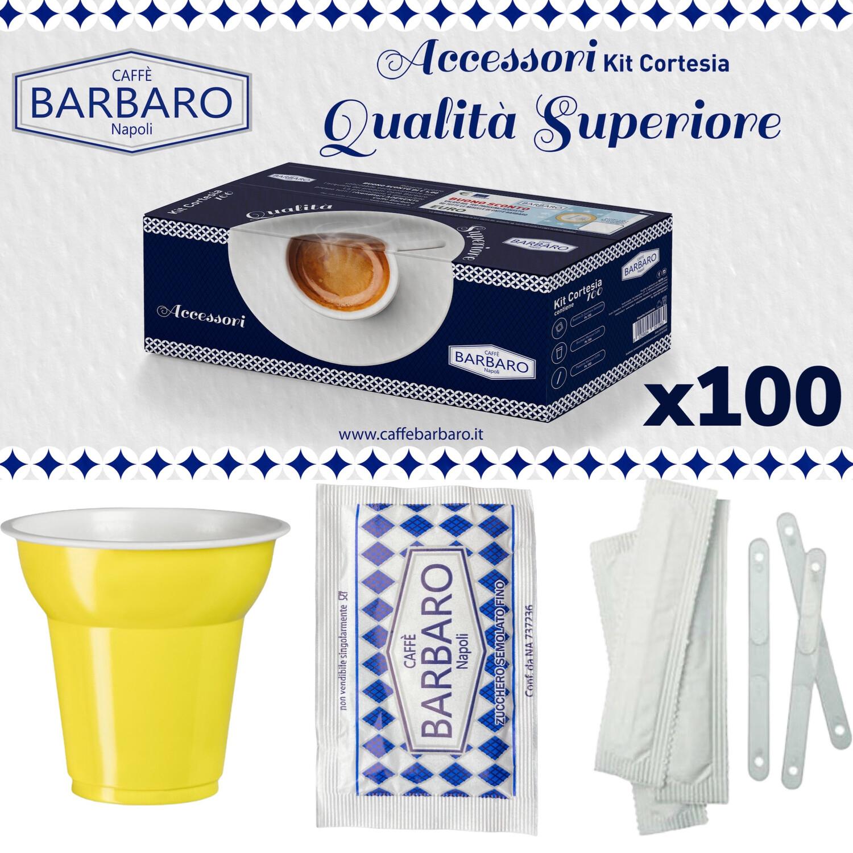 Barbaro Kit: шеќерчиња, лажички и чаши x100