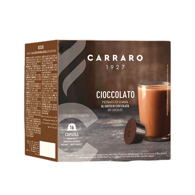 Carraro Dolce Gusto HOT Choko-Топло Чоколадо 16 пар. (двојна доза)