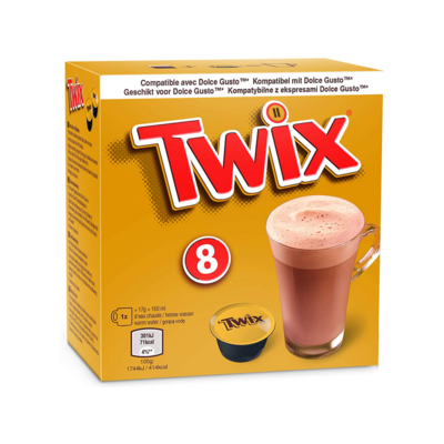 Twix by Mars™️ Dolce Gusto Hot Chocolate x8 капсули