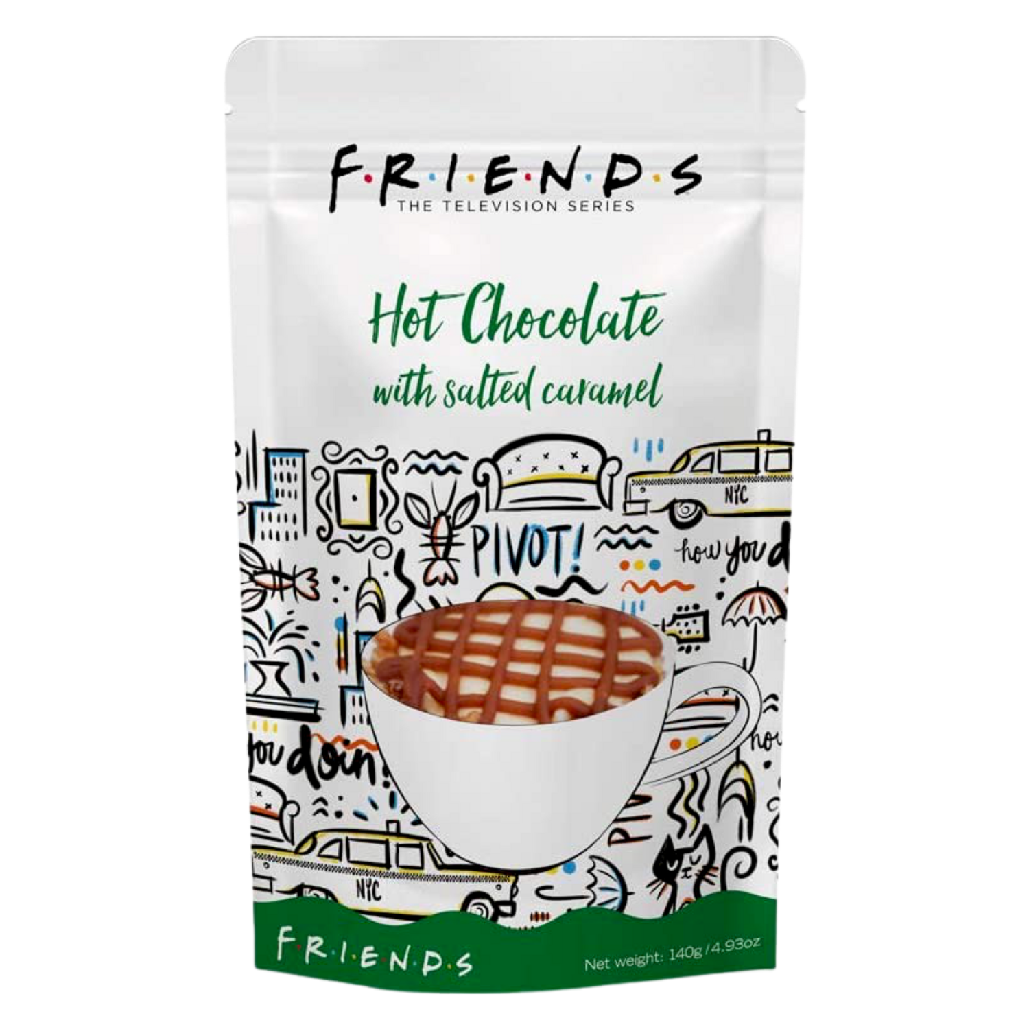 Original Friends™️ by Warner Bros Hot Chocolate with Salted Caramel 140 g.