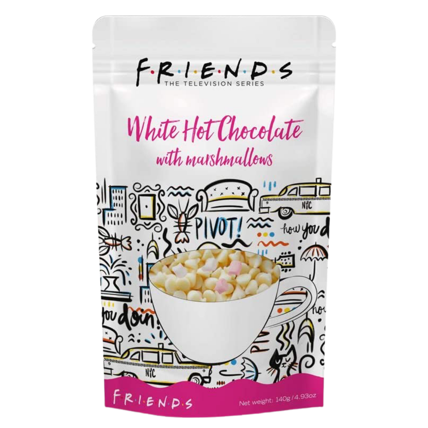 Original Friends™️ by Warner Bros Hot White Chocolate with marshmallows 140 g.