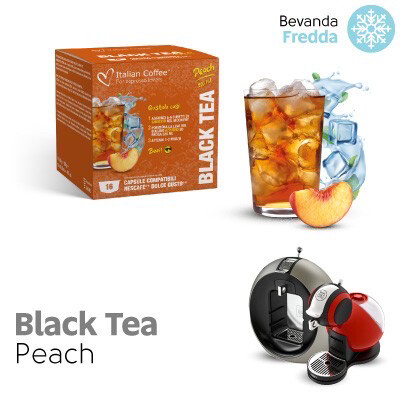 Italian Coffee Dolce Gusto Black Iced Tea Peach x16 капсули