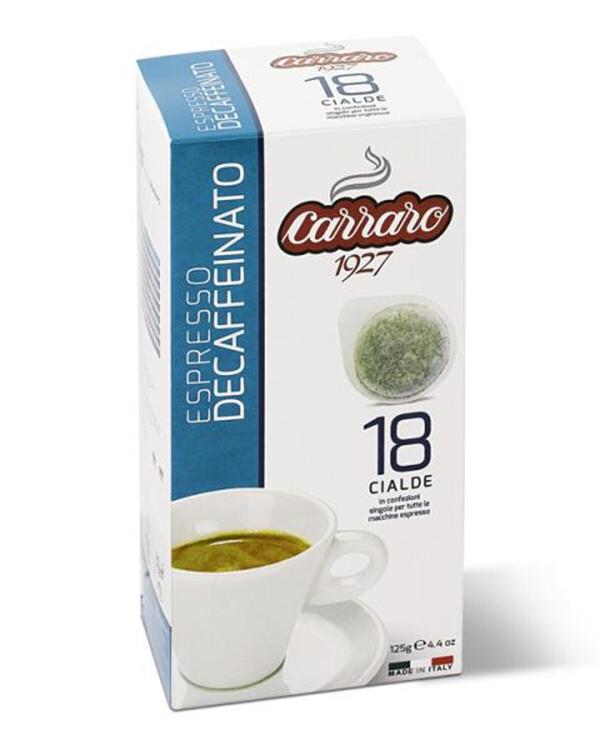 Carraro Без-кофеинско ese хартиен pod 18 пар