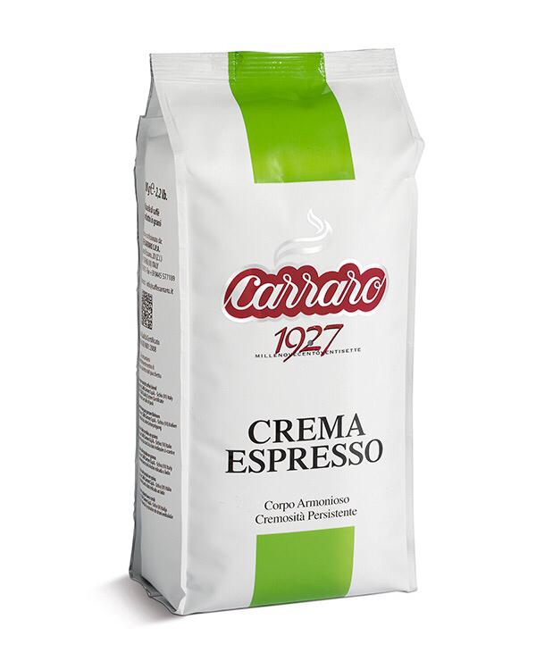 Carraro Crema Espresso 75% Арабика 1 кг зрно