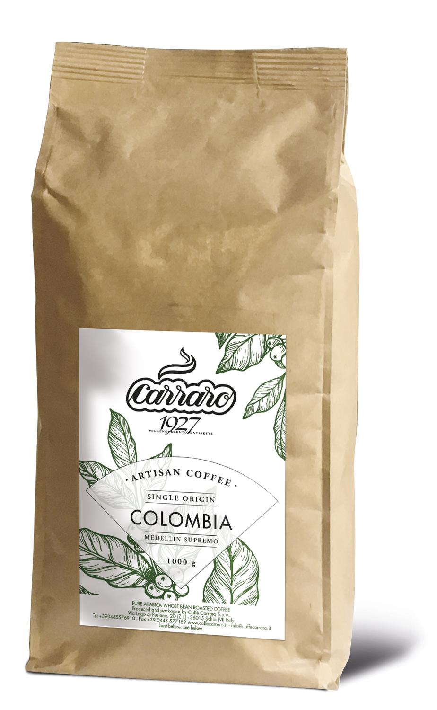 Carraro Colombia Specialty Artisan Medellin Supremo Coffee  во зрно 1 kg