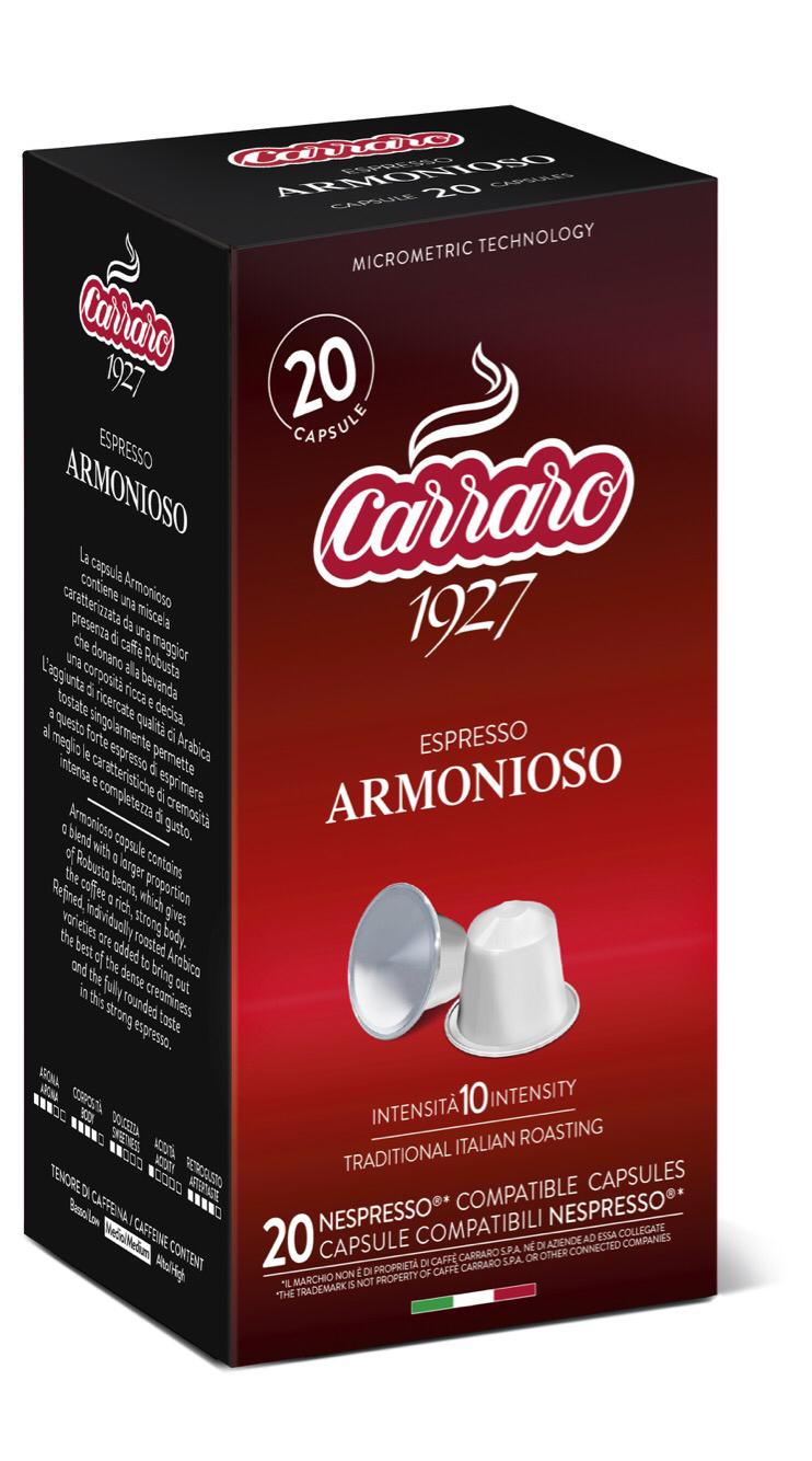 Carraro Armonioso Nespresso comp. 20 парчиња
