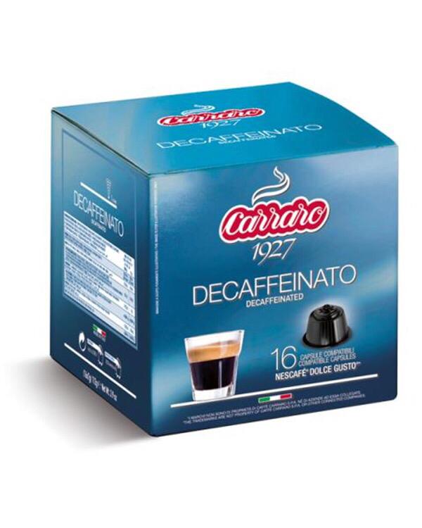 Carraro Dolce Gusto®*Decaffeinato Декофеин comp.  16 пар.