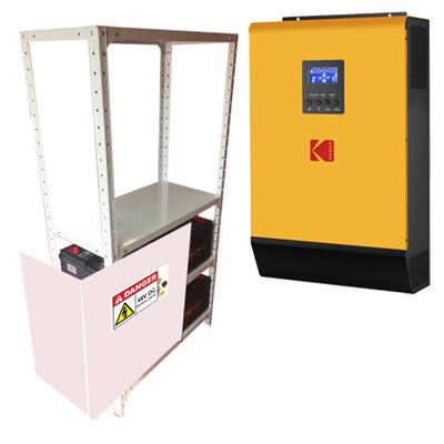 KODAK Solar Off-Grid Inverter VMIII 5kW 48V + (4 batt + cabinet)
