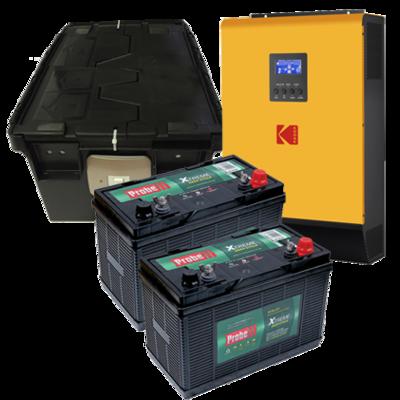 KODAK Solar Off-Grid Inverter VMIII 3kW 24V+(2 batt +Box