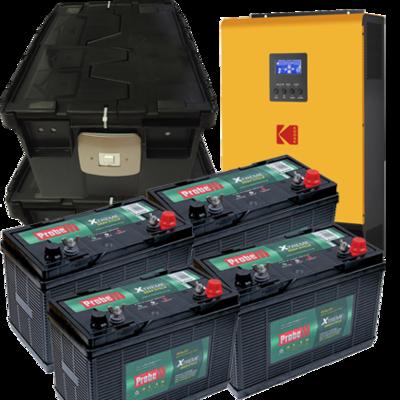 KODAK Solar Off-Grid Inverter VMIII 3kW 24V+(4 batt +2Box