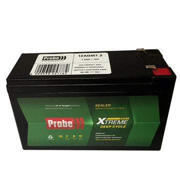 Probe 12v 7.2 A/Hour Deep Cycle Battery