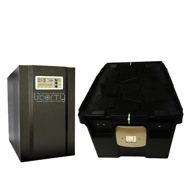 SH Series 2000VA 24v Pure sine wave +2 batteries & battery cabinet
