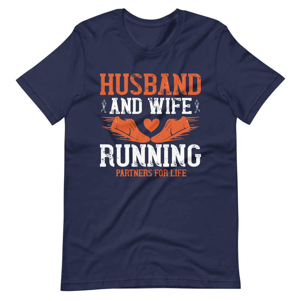 Husband and wife running partners for life Unisex Short-Sleeve Unisex T-Shirt