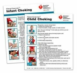 Heartsaver® Child And Infant Choking Wallet Card 15-1045 AHA