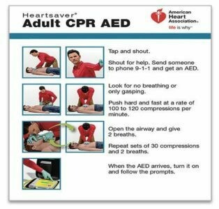 Heartsaver® Adult CPR AED Wallet Card 15-1024 AHA