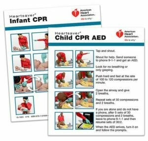 Heartsaver® Child And Infant CPR AED Wallet Card 15-1025 AHA