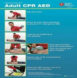Poster Pack Heartsaver® Adult CPR AED Posters 15-1026