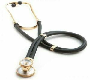 Stethoscope - Adscope® 641 Sprague Stethoscope Gold Finish/Black Tubing