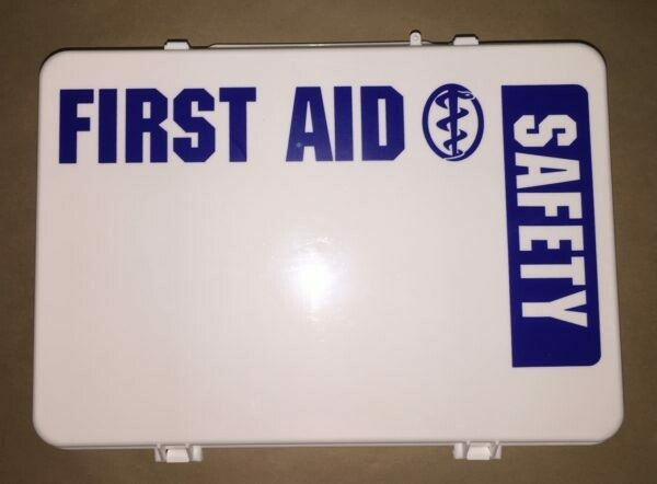 Empty Poly White 36PW boxes First Aid - Safety printed on front panel - Certified 209-008