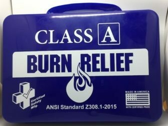 First Aid Kit - 18PN - Class A Burn Kit - Poly Navy - Certified 616-017