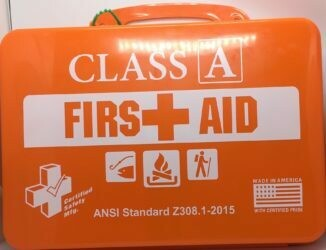 First Aid Kit - 18PO  Class A Outdoor - Poly Orange - Certified  616-012
