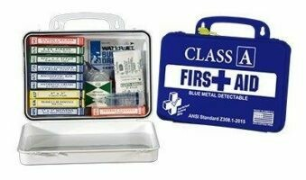First Aid Kit - Class A BMD Kit 16-18 (Blue Metal Detectable) Replaces Restaurant Kit - Certified 616-060