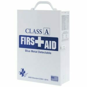 First Aid Kit  - Restaurant - 75V Class A Blue Metal Detectable - 3 Shelf Cabinet - Certified 616-035  - Food Industry
