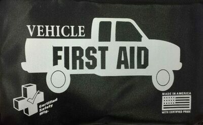 Vehicle First aid kit - Black Nylon Pouch 606-228