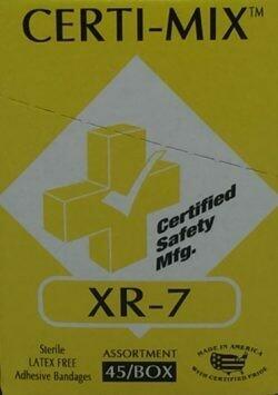 Adhesive Bandage Assortment - XR-7 Certi-Mix - Certified 220-110 - 45/box