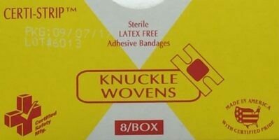 Adhesive Bandage - Knuckle Woven - # 688 Certified-Strip- Certified 210-020 (8/box)