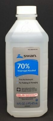 Alcohol - 70% - 16 oz. Plastic bottles - Case of 12-  (221-005)
