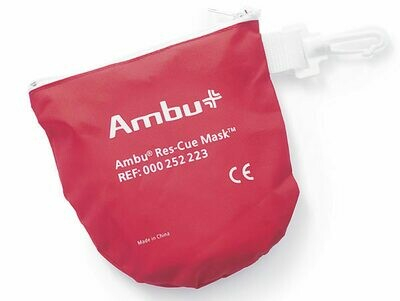 Ambu® Res-Cue Mask Basic in Soft Red Case With Infant Mask