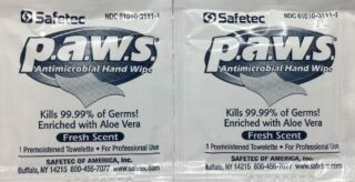 Antimicrobial Towelettes - Certified 213-006 (10/box) # 840