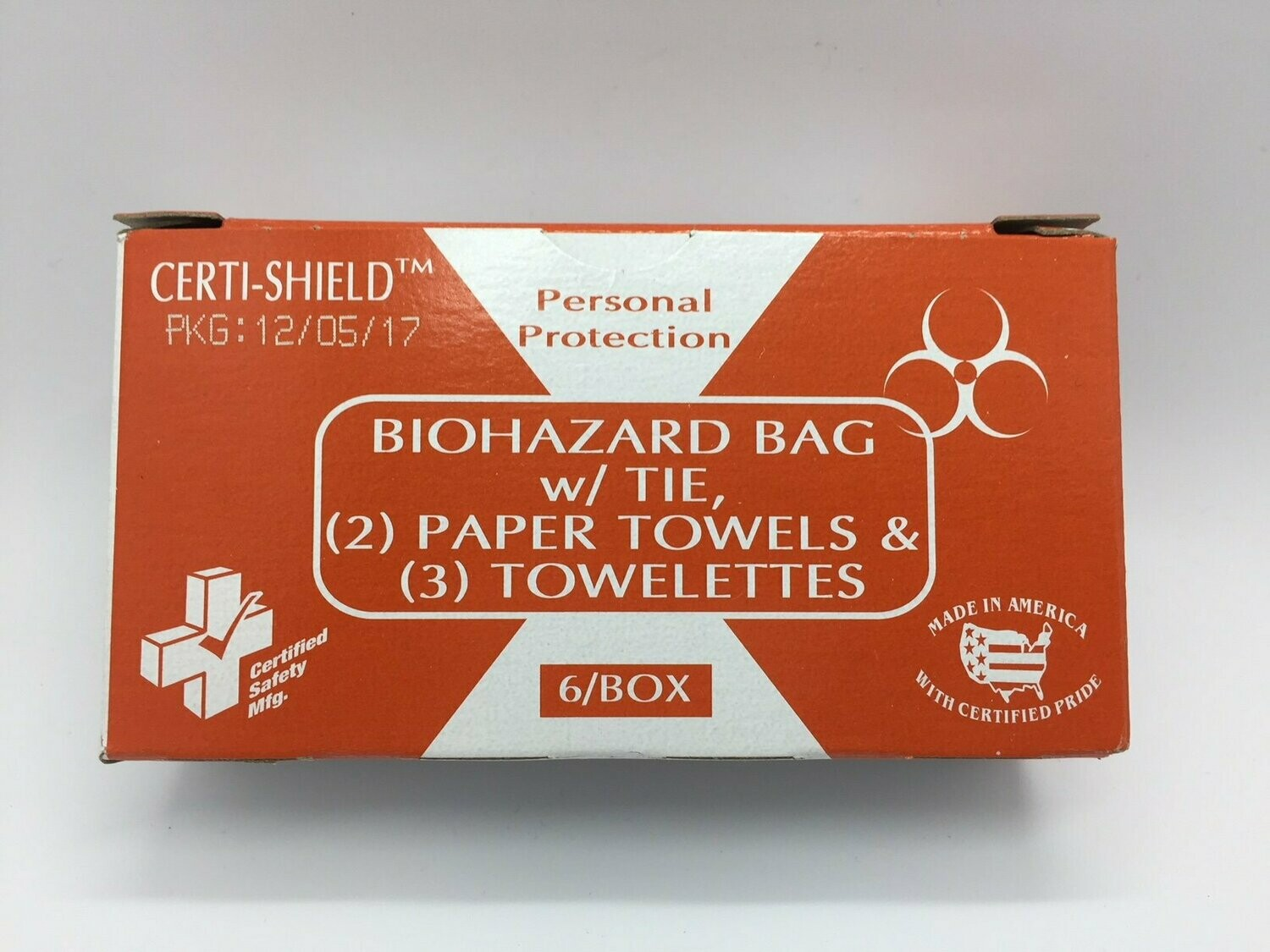 Biohazard Bag and Towelettes - 904X Certi-Shield- Certified 216-080