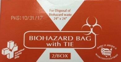Biohazard Bags w/ Tie - 24