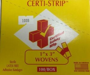 Certified Safety Certi Strip Woven Bandages, 1