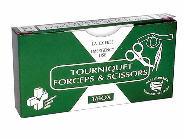 Certified Safety Tourniquet - Forceps - Scissors Certified # 782  Part # 216-013
