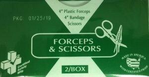 Certified Safety Forceps & Scissors 216-015   # 783