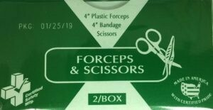 Certified Safety Forceps & Scissors 216-015   # 783