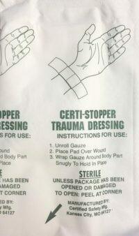 Certi-Stopper Trauma Dressing, XL 4