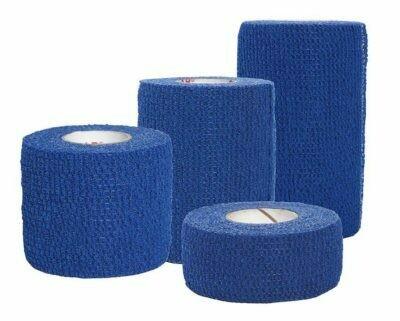 "Cohesive  Bandage - Certi-Rip - Elastic - BLUE - 1"" x 5yds - Certified 228-008 - 1/pkg"